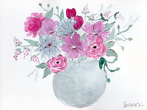 print or notecard - moody bouquet