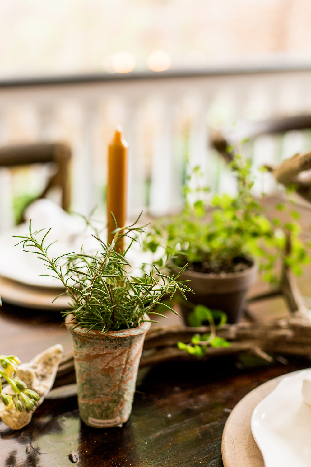 Table greenery details