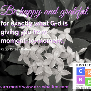 Be happy and grateful