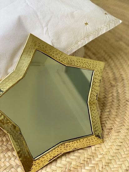 Miroir laiton étoile