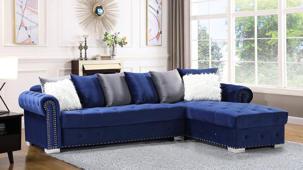 S8186 Milan Sectional (Blue)