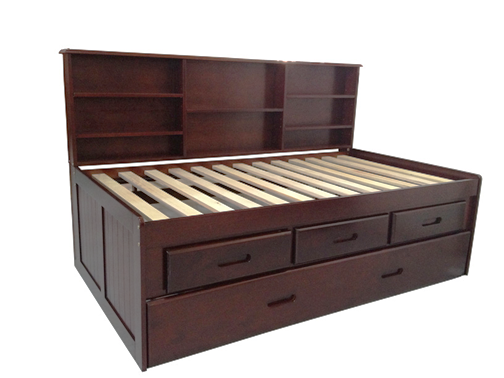 B51 Twin Bookcase/Trundle with 3drs