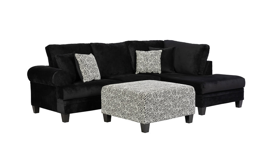 S1025 Sectional Black