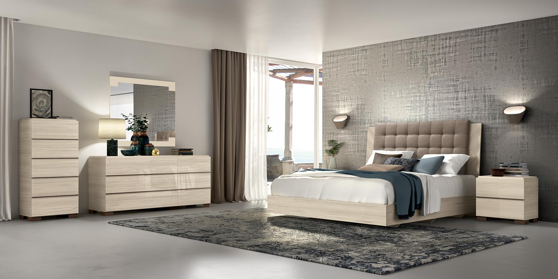 Perla Collection Upholstered Headboard