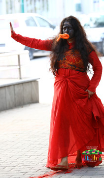 Performance Art 'Negotiating Ritual-Stimulus of Vermillion' by Dimple B. Shah