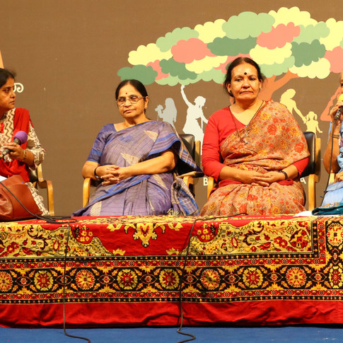 Literature for change - can writing make a difference? panel discussion with MS Asha Devi,  Dr. Vijayamma, Volga & Noor Zaheer