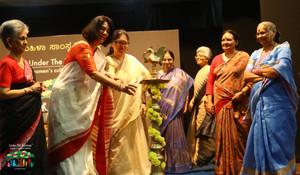 Inauguration by Shashi Deshpande, Sandhya Mendonca, Dr. Pramila Lochan, Volga, Ammu Joseph, Noor Zaheer & Dr. Vijayamma