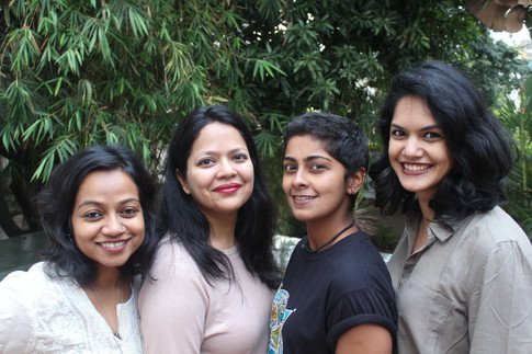 Cast of _On my Own_ by Jagriti Theatre