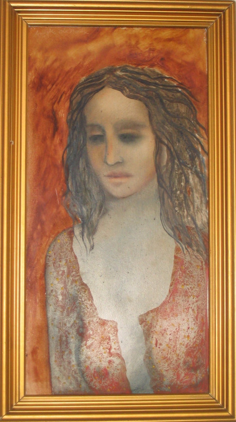 _The Girl Child_ oil on canvas by Anjolie Ela Menon