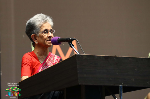 """""""According to me, culture is a combination of creativity and love for beauty, and this is present in all of us."""" - Shashi Deshpande speaking at the inauguration"""