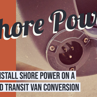 Installing a Shore Power Inlet on a Ford Transit