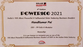 Mr. Nandkumar Pai, recognised as one of the 100 Most Powerful & Influential Business Leaders of 2021