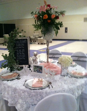 White Rosette Table Overlay