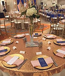 Rose Gold Sequin Table Overlay