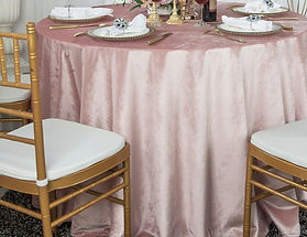 Blush Velvet Table Cloth