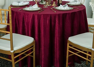 Burgundy Velvet Table Cloth