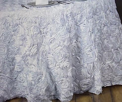 White Rosette Table Cloth