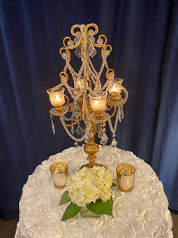 Gold Antique Crystal Candelabra with Fre