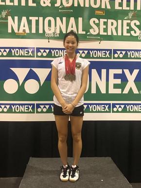 Won 17 medals in 2017 Yonex Atlantic Junior Elite & Elite Series