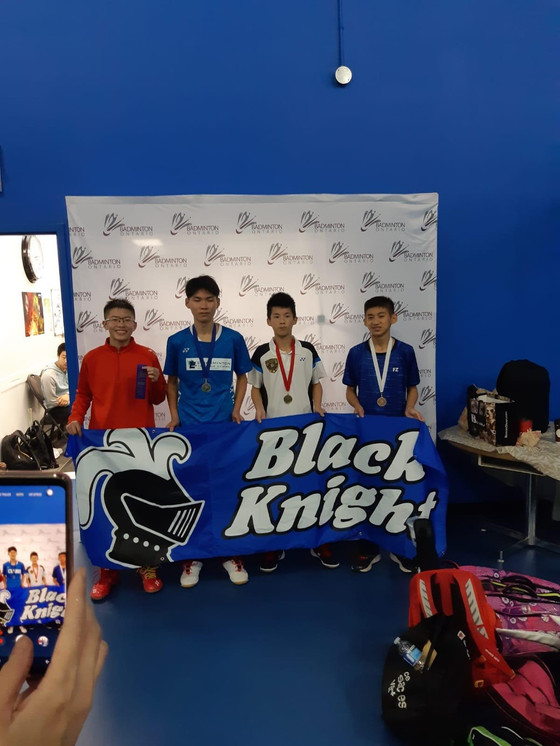 18.19 BLACK KNIGHT Badminton Ontario Jr HP A Series #1A - Lions Advance - U11 U13 U17