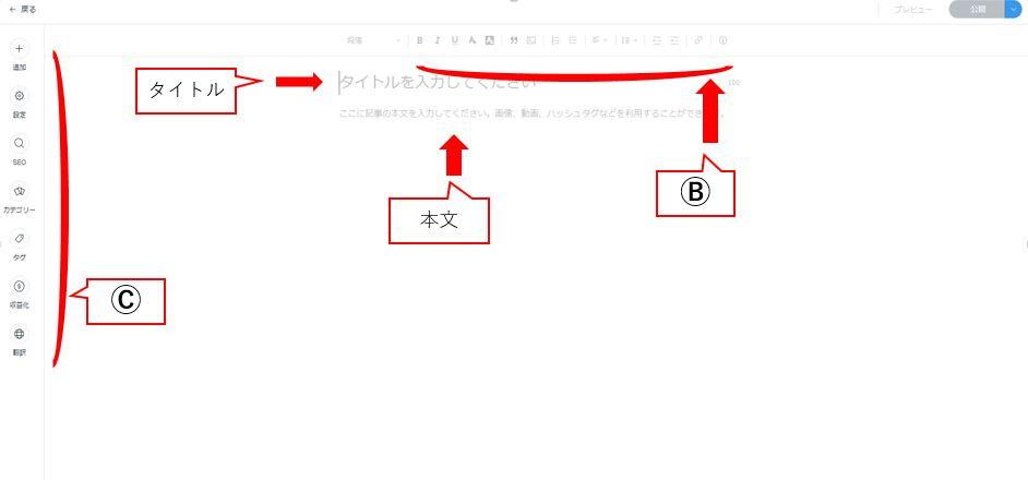 ブログの基本操作
