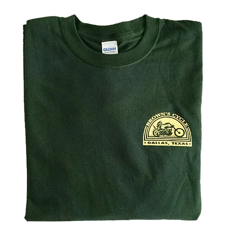 Brown's Cycle Long Sleeve T-shirt - Forest Green