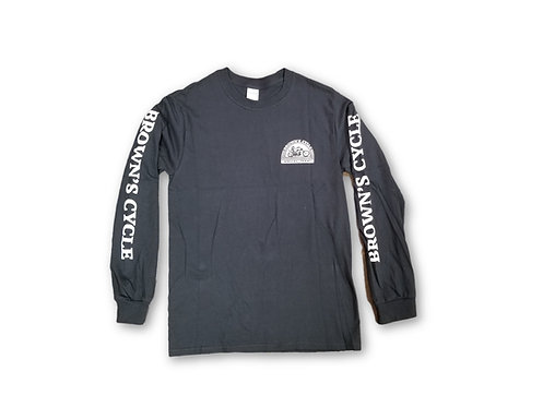 Brown's Cycle Long Sleeve T-Shirt - Black