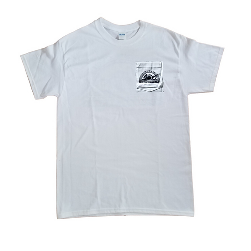 Brown's Cycle Short Sleeve Pocket T-Shirt - White