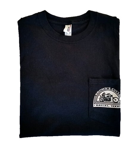 Brown's Cycle Pocket T-Shirt - Black