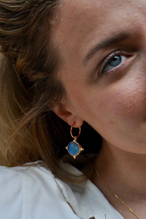 Labradorite Compass Earrings
