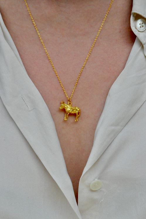 Gold Donkey Necklace