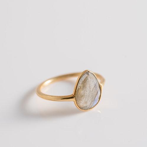 Labradorite Ice Gem - 18ct Plated Gold