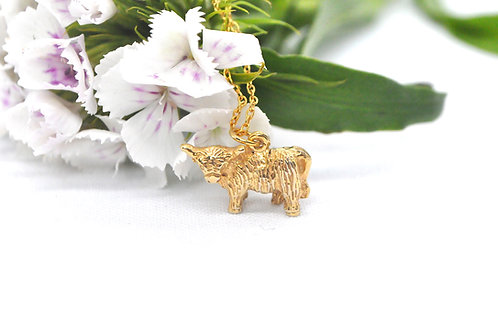Highland Cow - 18ct Gold Plated