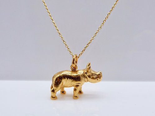 Baby Rhino - 18ct Gold Plated - Charity Piece