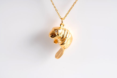Gold Mini Manatee - 18ct Gold Plated - Charity Piece