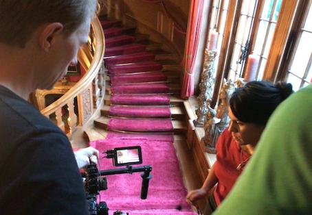 Villa als Drehort für Videoclip