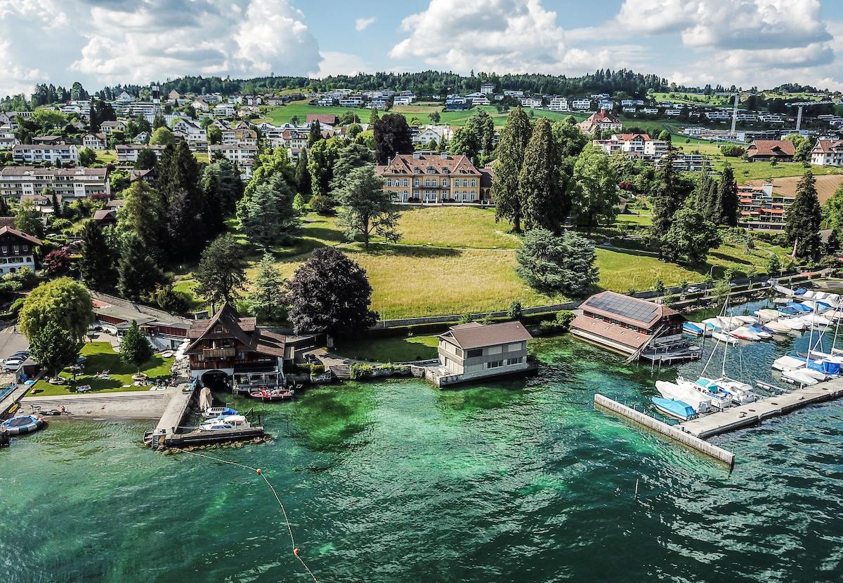 Villa Ansicht vom See