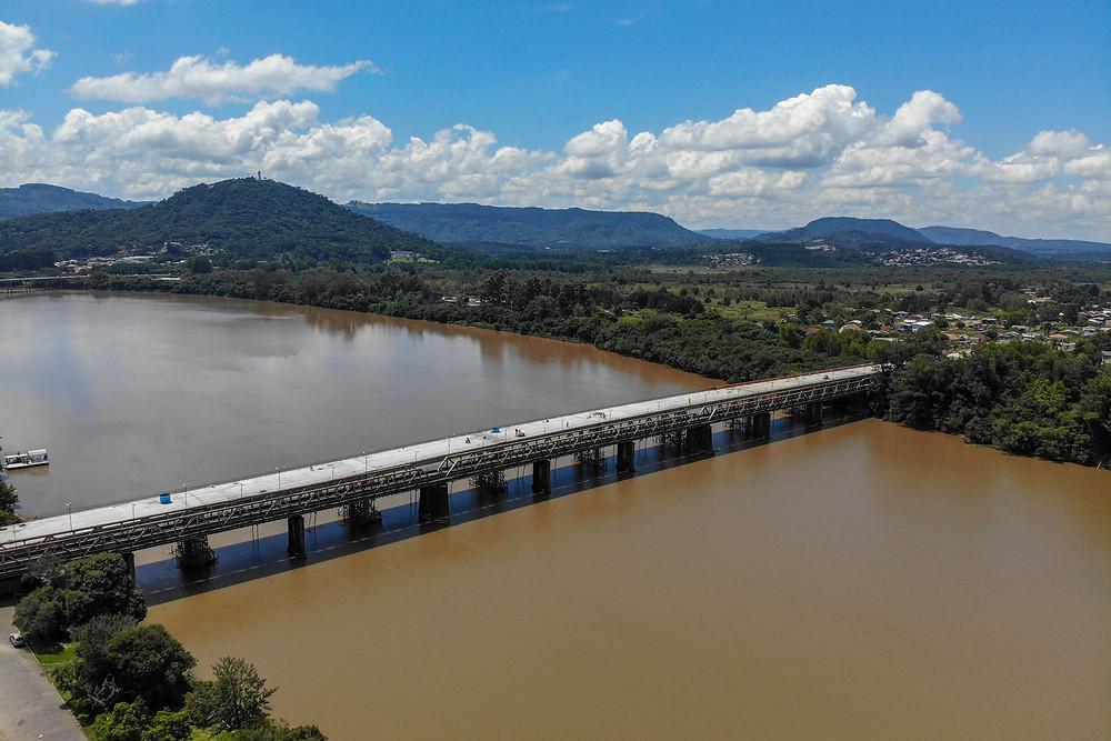 ponte Jose Richa em União da Vitória - Foto Gilson Abreu Foto: Gilson Abreu