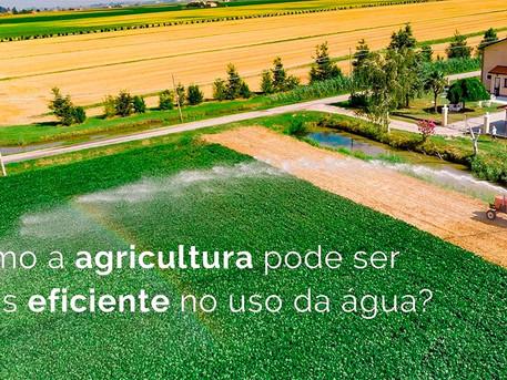 Como a agricultura pode ser mais eficiente no uso da água?