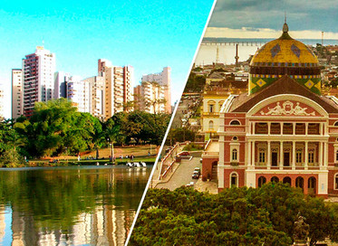 Panorama do saneamento nas cidades de Goiânia e Manaus