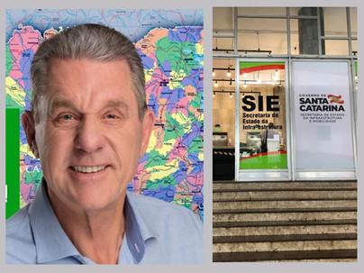 Leodegar Tiscoski Visita Protocolar à Secretaria Estadual de Infraestrutura (SIE)