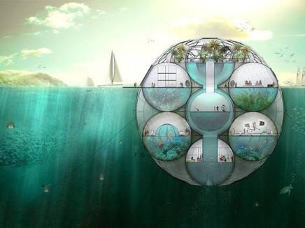 Cápsula flutuante filtra água do mar e despolui o ar