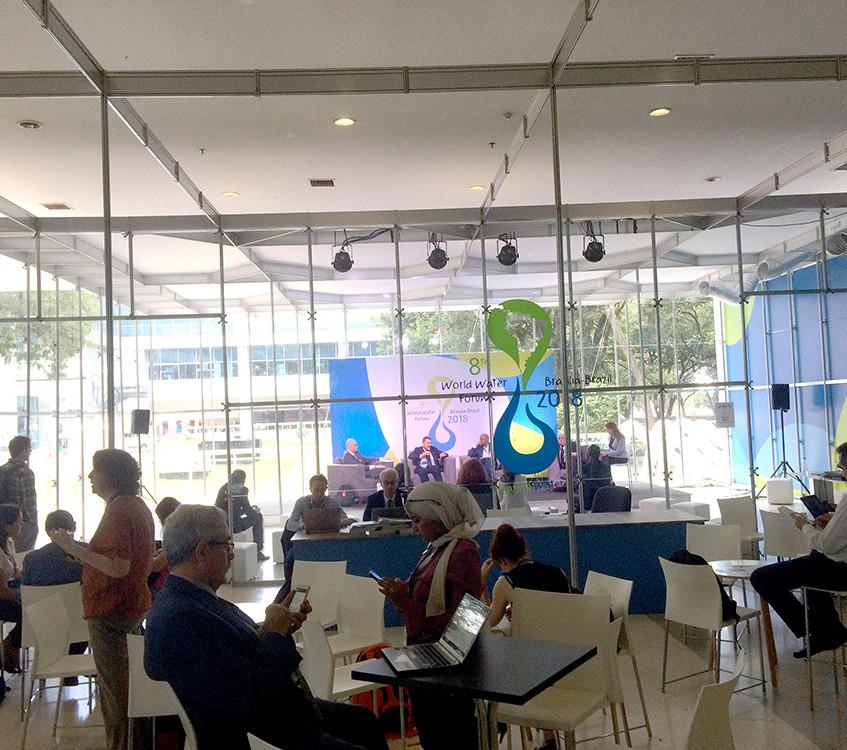 Hydro-Café - Inclusão dos refugiados na gestão de águas: aspectos politicos, ambientais e econômicos  Foto: Rogério Nunes