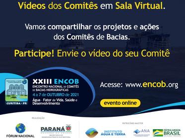 O XXIII ENCOB terá a apresentação de Vídeos dos Comitês em Sala Virtual