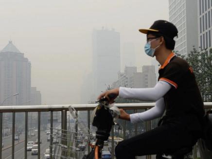 Pequim baniu os carros por 2 semanas e o céu ficou completamente azul