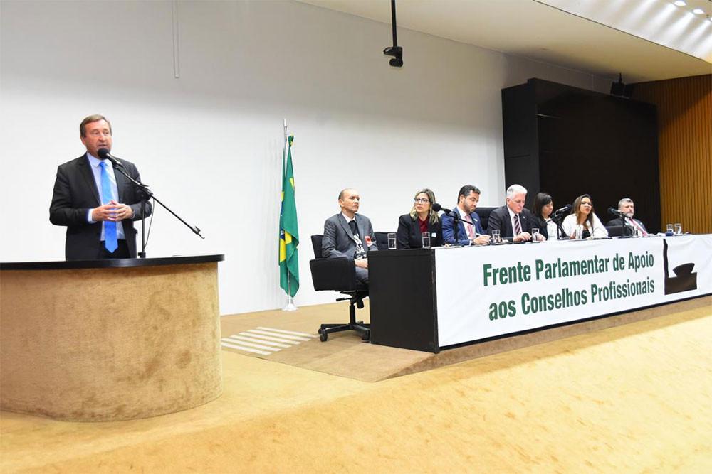 O presidente do Confea, eng. civ. Joel Krüger, tem marcado presença no Congresso para debater pautas de interesse do sistema profissional