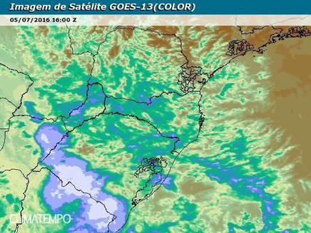 Chuva e queda de temperatura no Sul