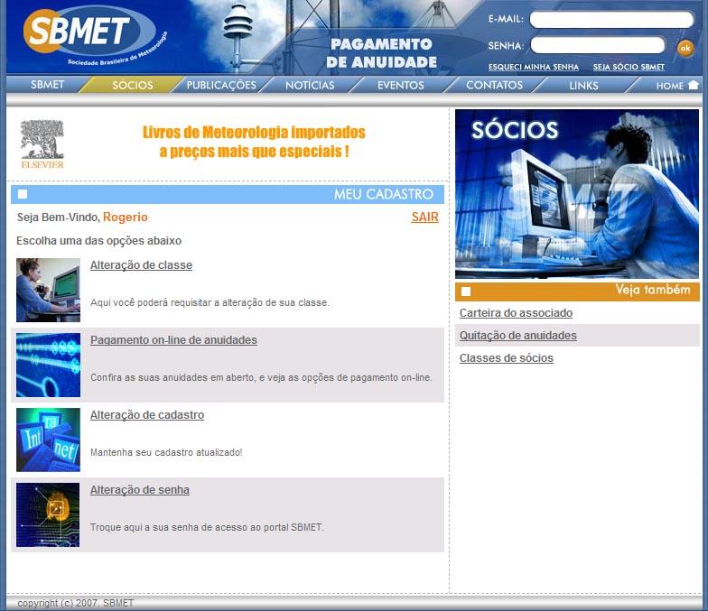 Interface do Sócio SBMET
