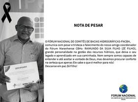 Nota de Pesar - José Raimundo da Silva Filho (ZÉ FILHO)