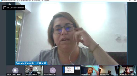Agente de fiscalização do Crea-SP, Daniela Carvalho